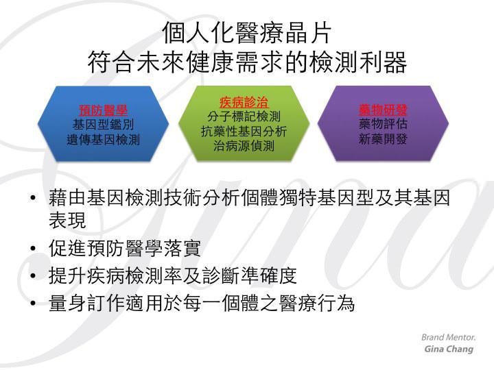 [圖四] 個人化醫療晶片 符合未來健康需求的檢測利器