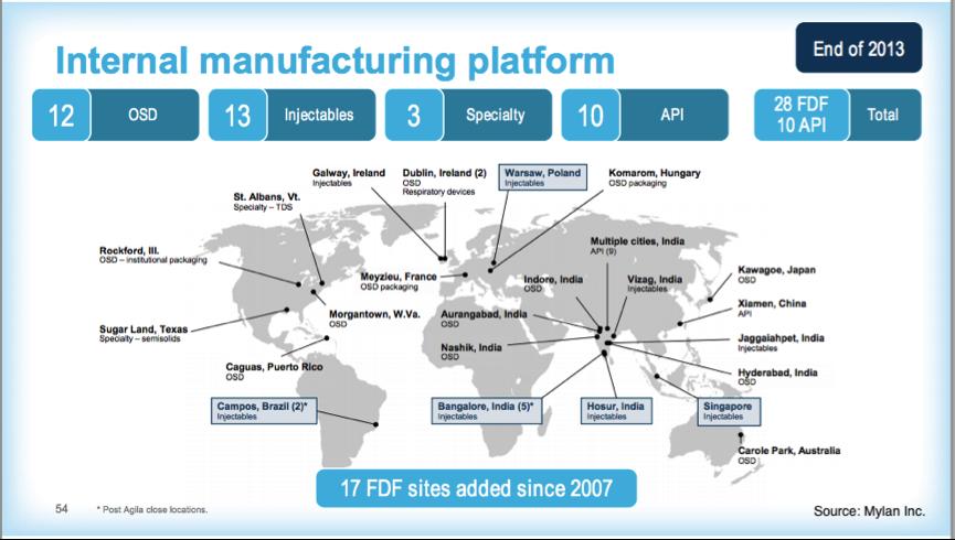 [圖四] 2013年全球製造據點