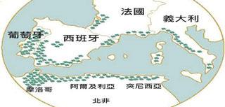 Bpaper - [圖一] 世界軟木林分佈圖