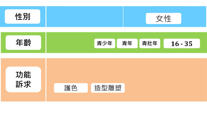 圖十一 沙宣目標客群分類