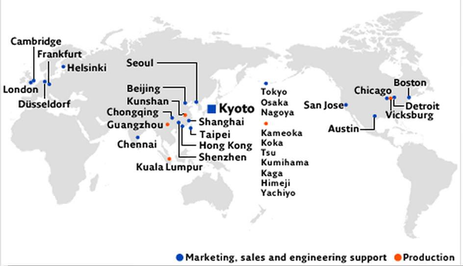 圖二 日本寫真印刷營業據點分布情形