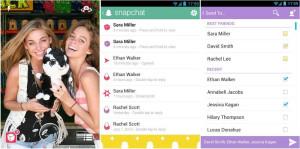 圖一-Snapchat使用介面