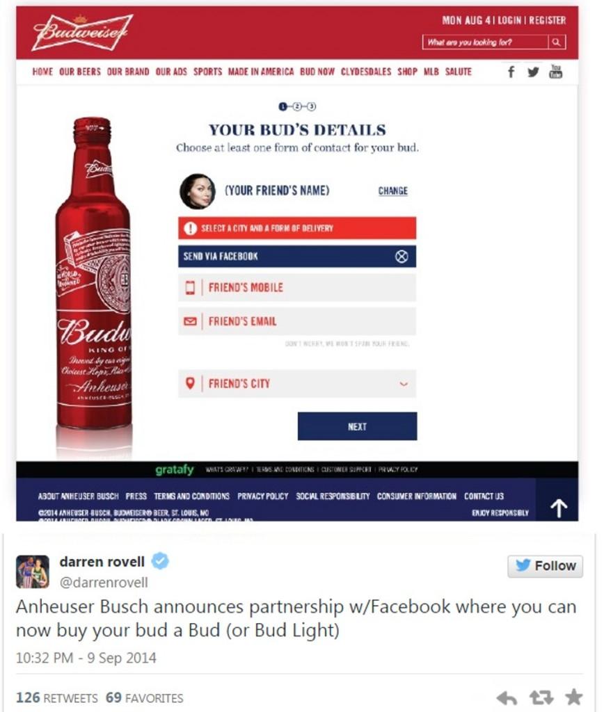 圖二_臉書與百威啤酒合作