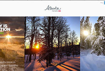 圖一Travel Alberta Tumblr頁面