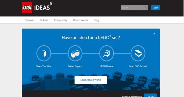 圖六 LEGO idea網站的截圖畫面