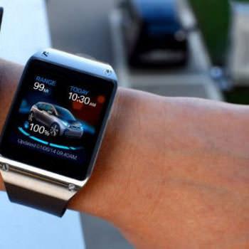 圖一 智慧型手錶與汽車連結